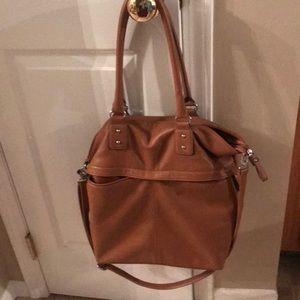 Merona brown leather slouchy purse